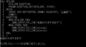 plsql_ユーザ定義例外0